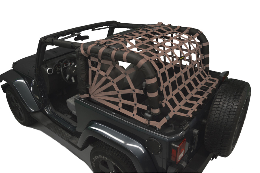 Dirty Dog 4x4 Spider Netting Rear Sand ( Part Number: J2NN07RSSD)