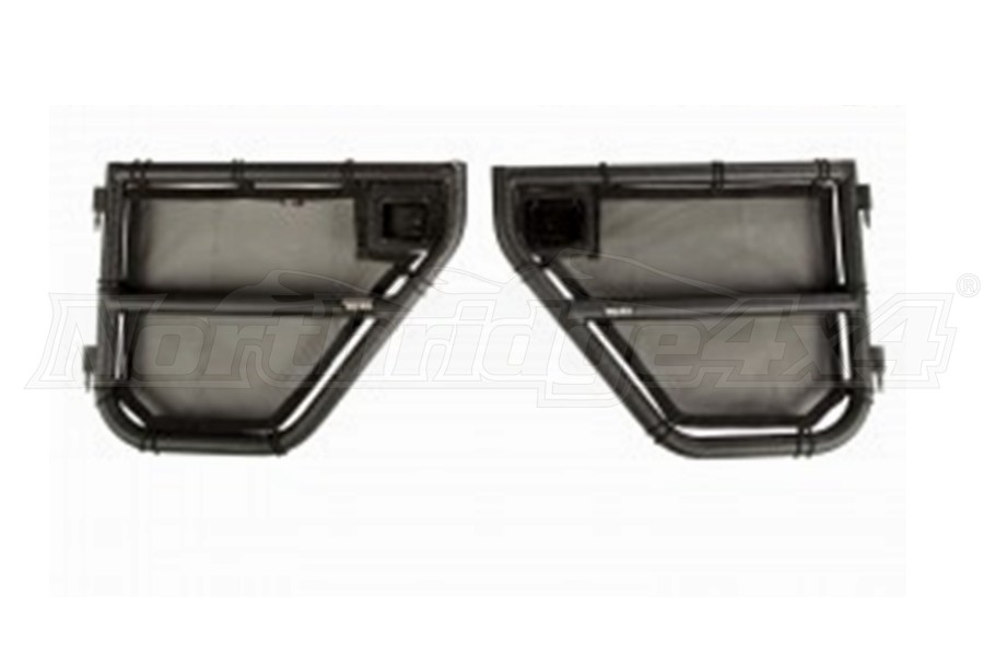 Rugged Ridge Tube Doors Rear W/ Eclipse Cover - JK 4dr