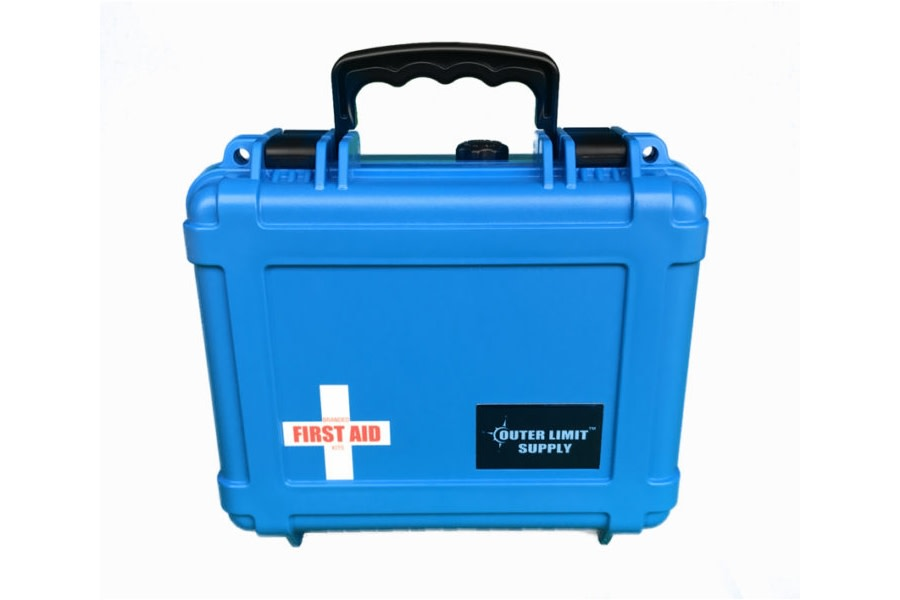 Outer Limit Supply Waterproof Individual First Aid Kit - Blue
