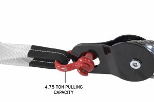 Overland Vehicle Systems 3/4in Recovery Shackle, 4.75-Ton - Red