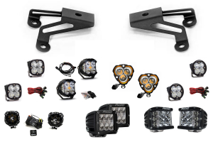 Grimm Offroad Bumper Light Mounts w/ Pair of LED Lights