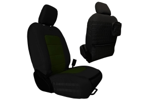 Bartact Tactical Series Front Seat Covers - Black/Olive - JT