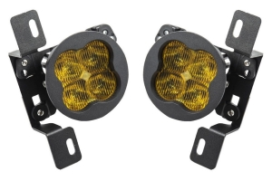 Diode Dynamics SS3 Pro LED Fog Light Kit, Yellow - Pair - JT Rubicon