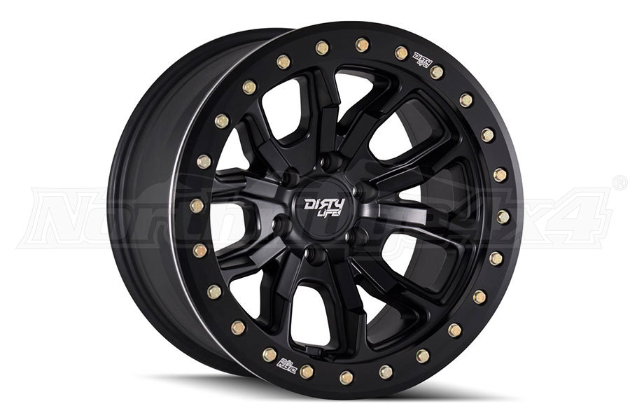 Wheel 1 Dirty Life DT-1 9303 Series Wheel Matte Black 17x9, 5x5 (Part Number:9303-7973MB12)