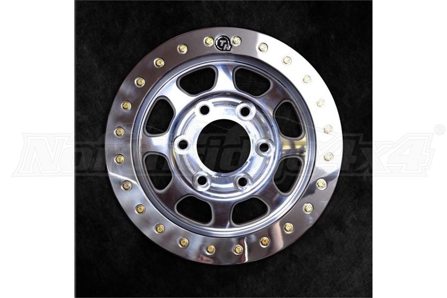 Trail Ready Slim Ring Polished Beadlock Wheel, 17x8.5 5x5 - JT/JL/JK