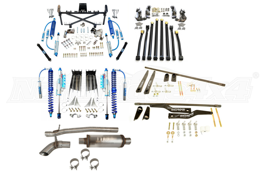 EVO Manufacturing Double Throwdown System Package - JK 4dr 2012+