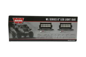 Warn WL Series Light Bar Flood 6in  (Part Number: )