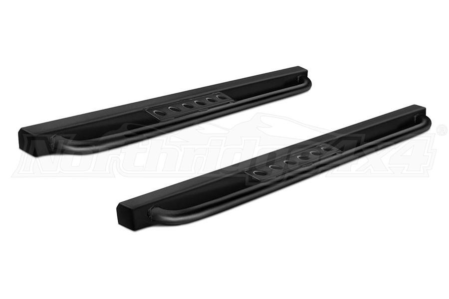 Smittybilt SRC Classic Rock Rails with Step,  Black  (Part Number:76638)