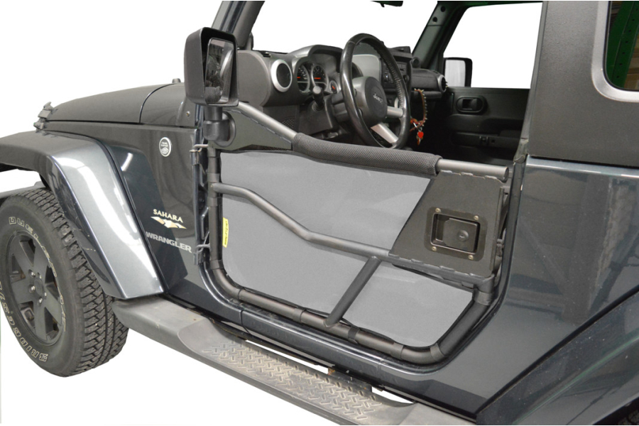 Dirty Dog 4x4 Bestop Tube Door Screen Grey - JK 2dr