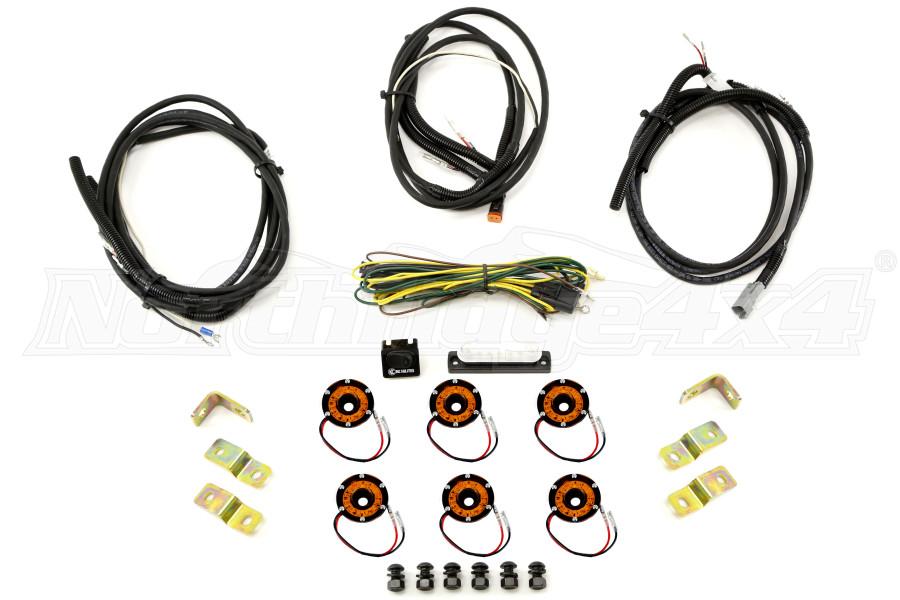 KC Hilites Rock Light Kit, 6 Lights, Amber (Part Number:91026)