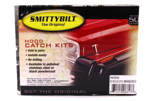 Smittybilt Stainless Steel Hood Catch Kit Black (Part Number: )