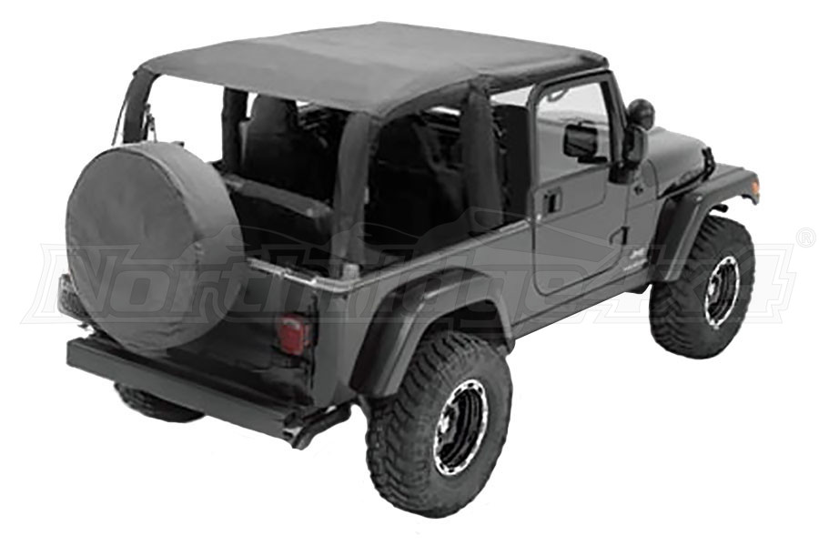 Smittybilt Extended Soft Top Black Diamond - LJ
