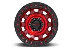 KMC Wheels KM236 Tank Series Beadlock Wheel, 17x9 5x5 - Red - JT/JL/JK
