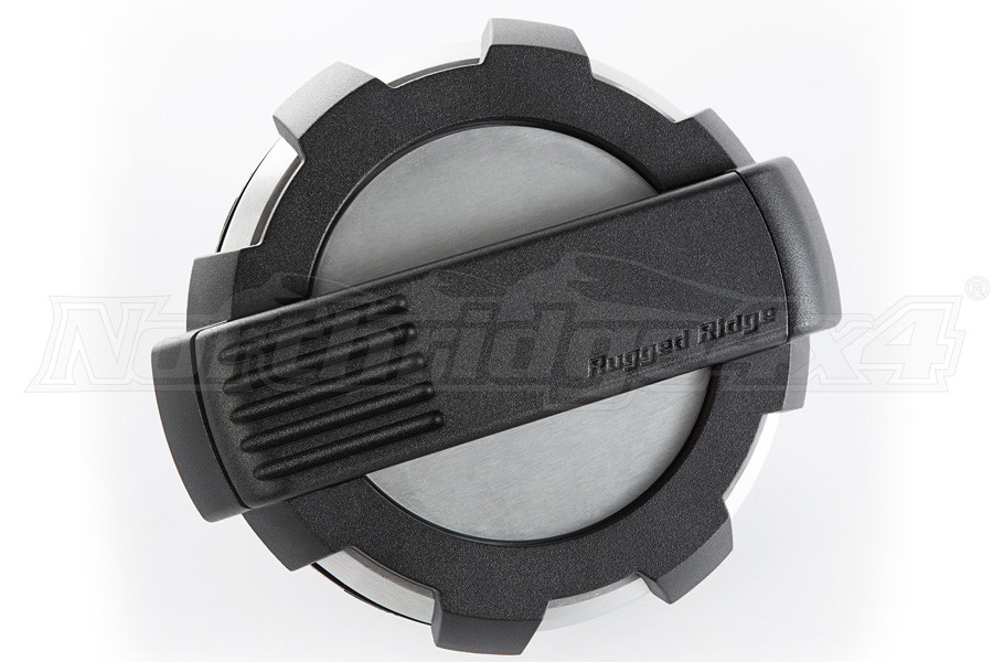 Rugged Ridge Elite Fuel Door, Non-Lock, Brushed Alum. (Part Number:11425.10)