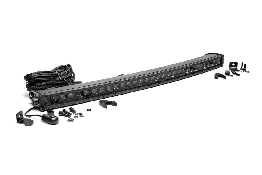 Rough Country 30in Black Series Single Row Curved Light Bar (Part Number:72730BL)
