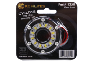 KC HILITES 2IN Cyclone LED Accessory Light, Clear