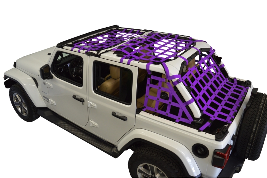 Dirty Dog 4x4 5pc Cargo Side Netting Kit, Purple - JL 4Dr