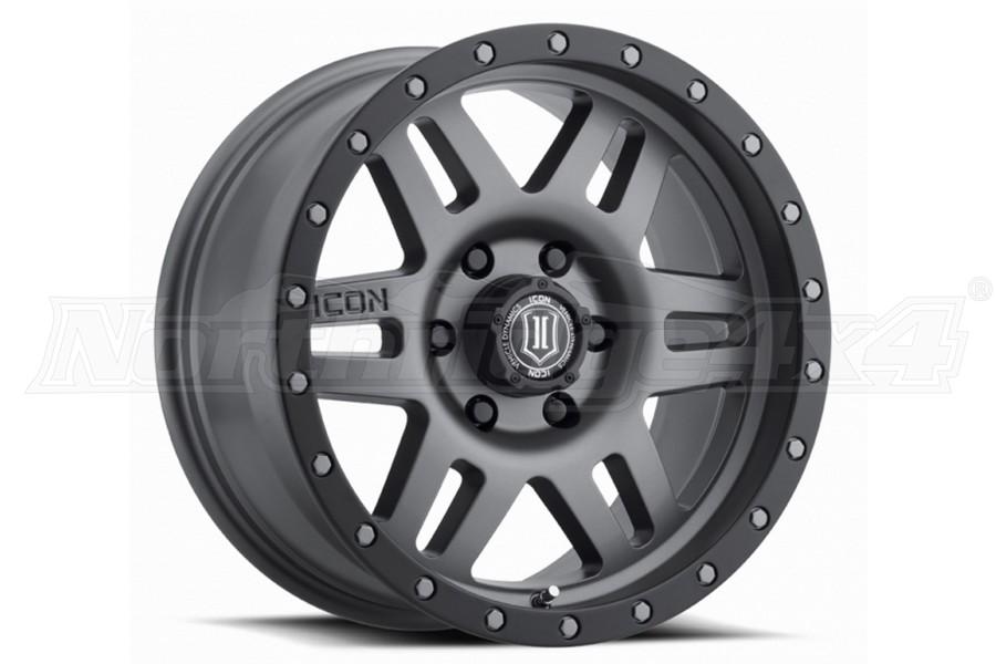 ICON Vehicle Dynamics Six Speed Wheel Titanium, 17X8.5 5x5  - JT/JL/JK
