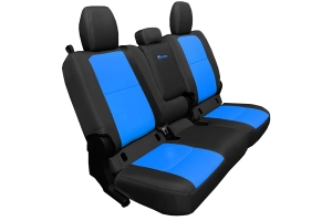 Bartact Tactical Series Rear Bench Seat Cover w/ Fold Down Arm Rest - Black/Blue - JT