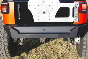 Nemesis Industries Helix Rear Bumper - Semi Gloss Black Powder Coat, Aluminum (Part Number: )