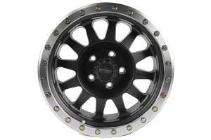 Method Race Wheels Double Standard Series Wheel Matte Black w/Machined Lip 17x8.5 5x5 - JT/JL/JK