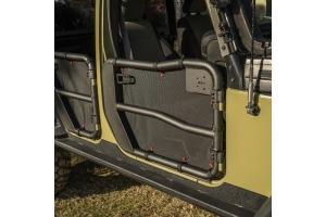 Rugged Ridge Front Fortis Tube Door Cover Set - Black  - JK