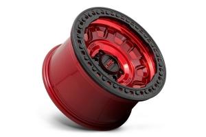 KMC Wheels KM236 Tank Series Beadlock Wheel, 17x9 5x5 - Candy Red - JT/JL/JK
