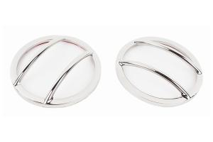Kentrol Fog Light Cover Set - Polished Silver  - JK