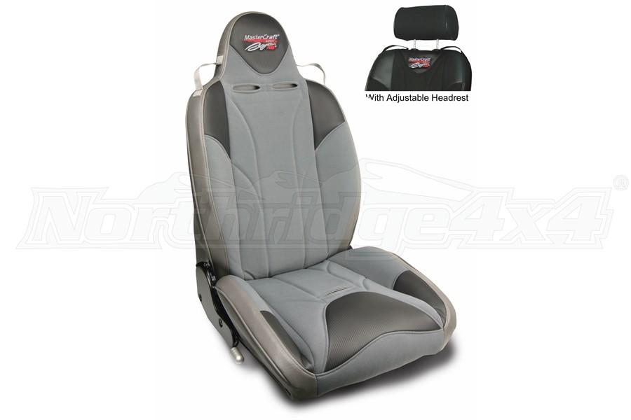 MasterCraft Baja RS DirtSport Reclining Seat w/Adj. Headrest Smoke/Gray/Gray
