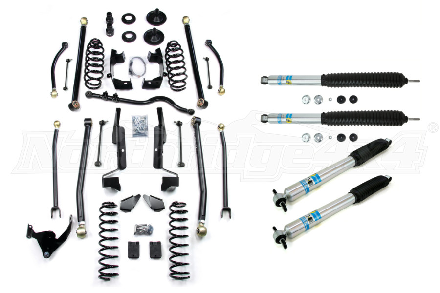Teraflex 3in Elite LCG Long FlexArm Lift Kit, w/Bilstein Shocks - JK 4DR