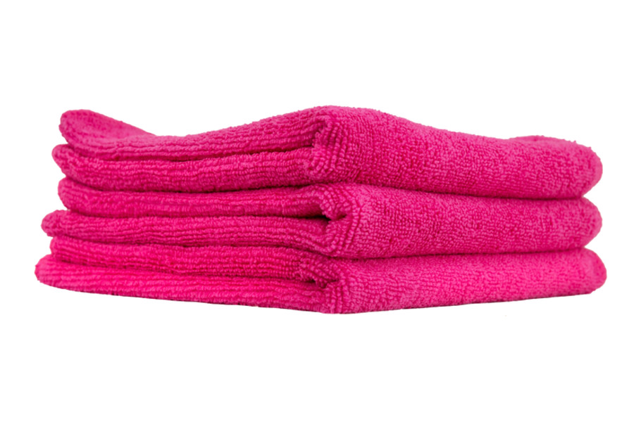 Chemical Guys Ultra Fine Microfiber Towels 3 Pack - Pink