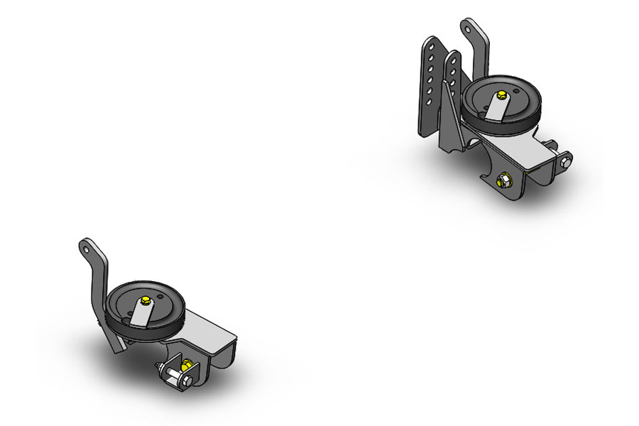 Clayton 3 Link Front axle bracket kit W/adj track bar mount (Part Number:1100330)