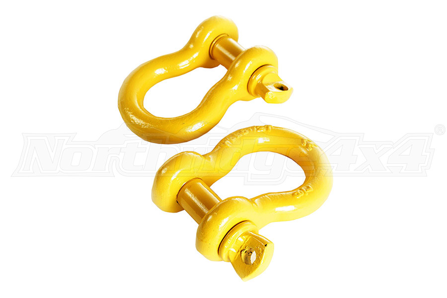 Rugged Ridge D-Rings, 3/4 Inch, Yellow, Pair