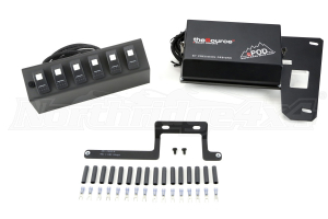sPOD 6 Switch System with double LED light Contura rocker switches & Source System Red ( Part Number: 600-0915LT-LEDR)