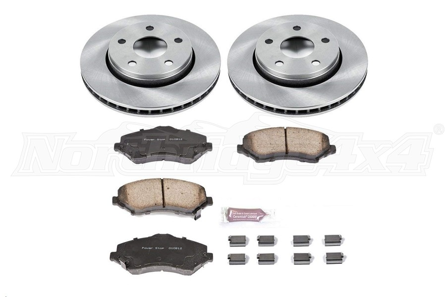 Power Stop Autospecialty OE Replacement Brake Set, Front (Part Number:KOE3097)