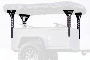 Freespirit Recreation Adventure Series 55in Roof Top Tent Trailer Towers, Black
