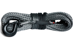 Rugged Ridge Synthetic Winch Line, Dark Gray, 23/64in