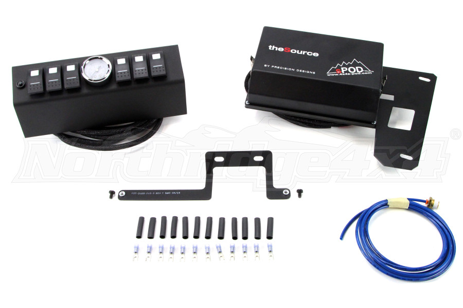 sPOD 6 Switch w/ Air Gauge and Double LED switches & Source System Red (Part Number:610-0915LT-LEDR)
