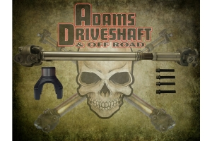 Adams Driveshaft 1350 Half Round Solid Front CV Driveshaft   - JL Sahara Only