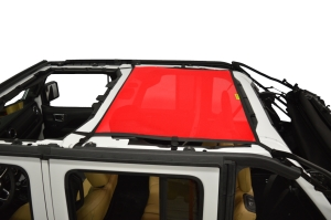 Dirty Dog 4x4 Sun Screen Rear - Red (Part Number: )