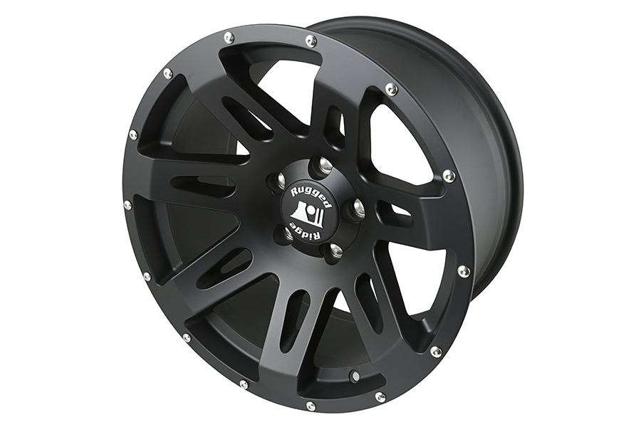 Rugged Ridge XHD Wheel, 18x9, 5x5, Black Satin (Part Number:15305.01)