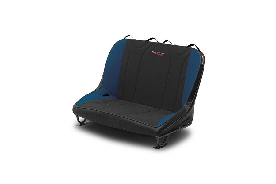 MasterCraft Rubicon Rear Bench Seat w/o Headrests Black / Blue (Part Number:310102)