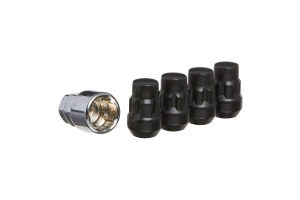 West Coast Cone Seat Acorn Closed End Wheel Locks, Black - 5 PACK (Part Number: )