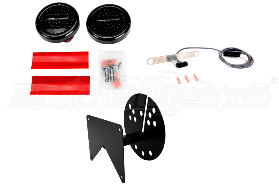 Off Road Only LED Tail Lights, Plate Kit and RH Bracket (Part Number:LED-FLASHER-RH-KIT)