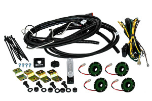 KC Hilites Rock Light Kit, 4 Lights, Green (Part Number: )