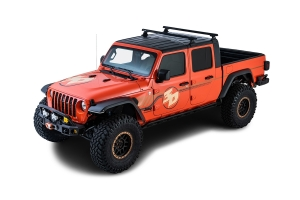 Rhino Rack Heavy Duty Black 2 Bar Roof Rack w/ Backbone and RLT600 Legs   - JT