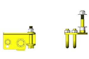 Clayton Steering Stabilizer Relocation Bracket Kit  - JL