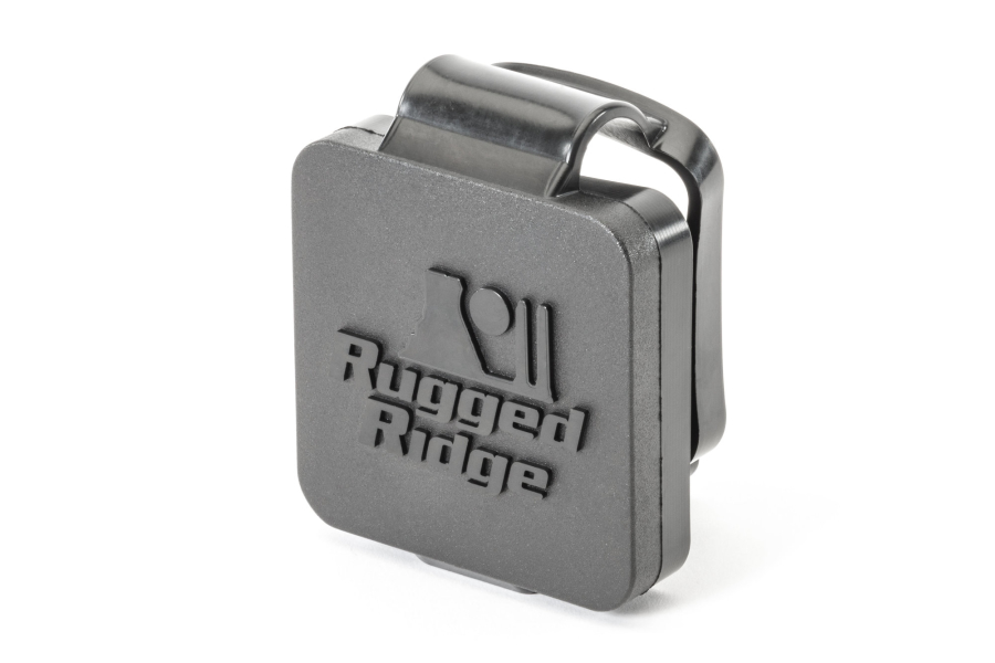 Rugged Ridge 2in Receiver Hitch Plug Black Logo (Part Number:11580.26)