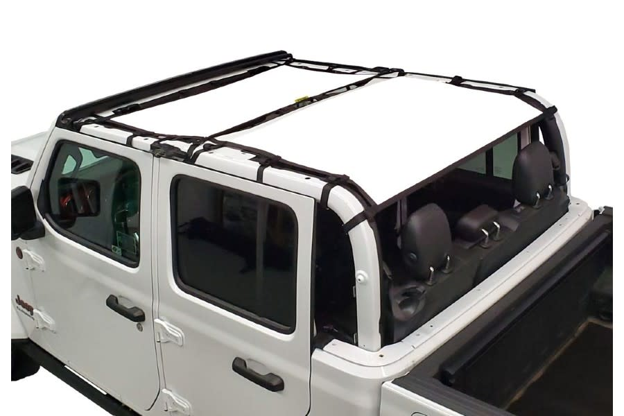 Dirty Dog 4x4 Sun Screen Front and Rear-White - JT