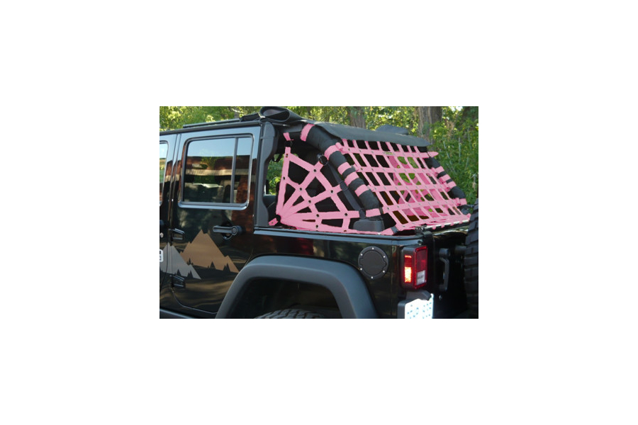 Dirty Dog 4x4 Rear Netting Pink (Part Number:J4NN07RCPK)